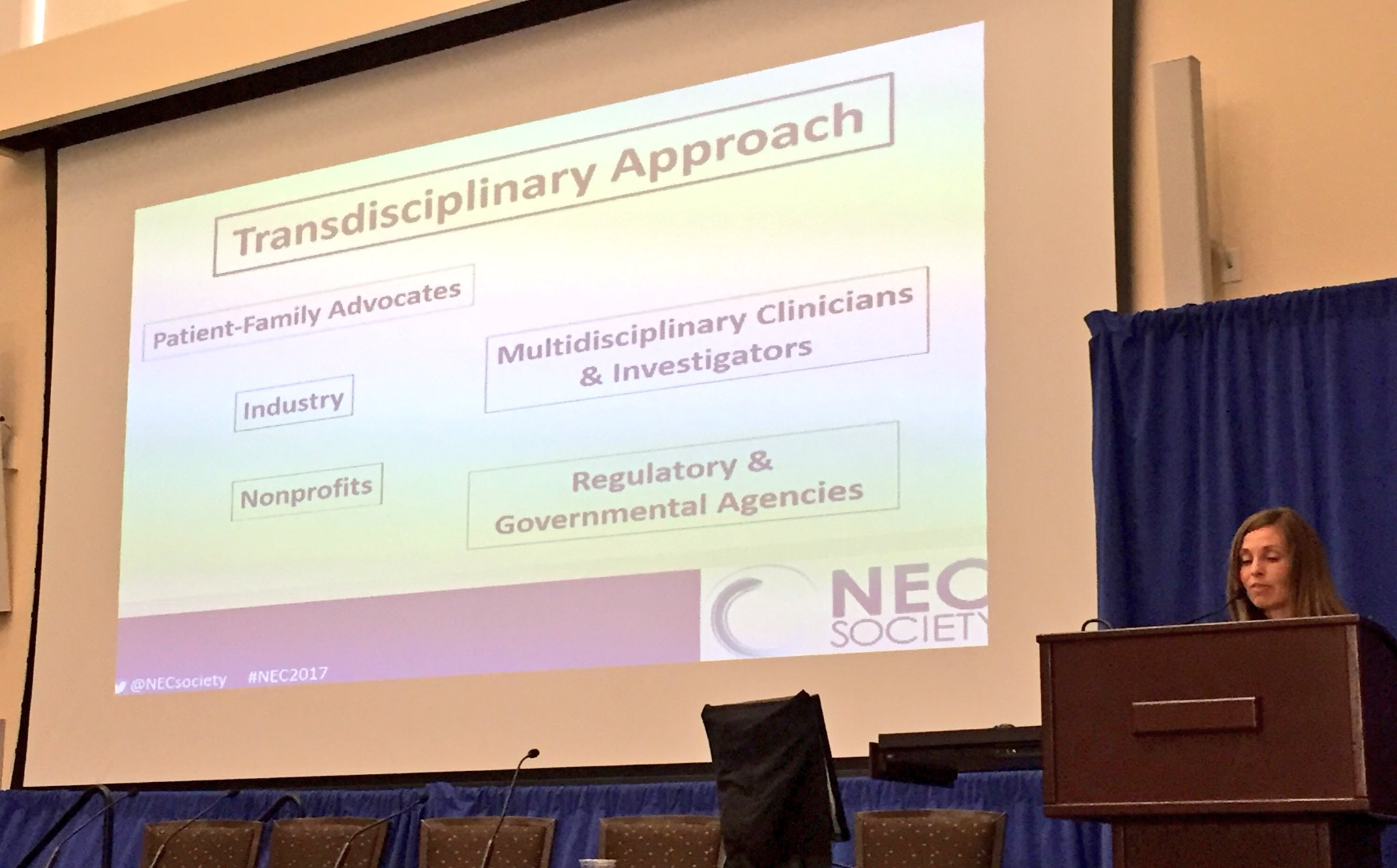 Jennifer Canvasser presents at the NEC Symposium.