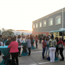 Outdoor reception with food truck
