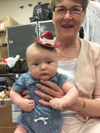 Baby Ruby with her grandmother