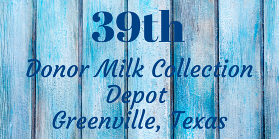 Breastmilk Collection Depot Now Available in Greenville, Texas