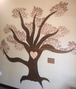 Carmen's Tree is a memorial located in the foyer of Mothers' Milk Bank of North Texas. Each leaf represents a baby who passed away and whose mother donated breastmilk to help other babies.
